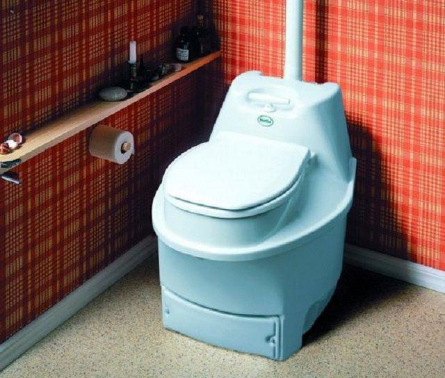 Биотуалет может быть установлен и стационарно – в отведённом для него помещении.