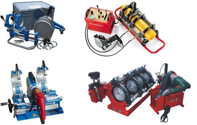 Различные модели аппаратов для стыковой сварки полипропиленовых и полиэтиленовых труб