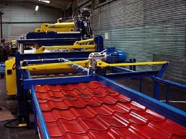Производственная линия по выпуску металлочерепицы