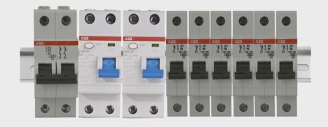 Линейная схема компоновки УЗО и автоматических выключателей