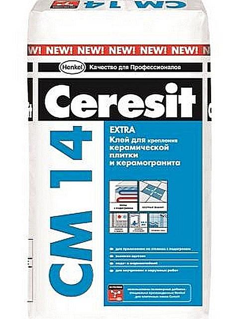 Упаковка плиточного клея «Ceresit СМ 14 Extra»,