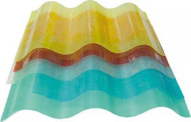 Волнистый шифер из стеклопластика