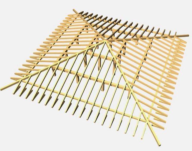 Шатровая стропильная система – весьма непроста в монтаже