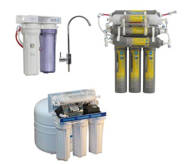Конструкция фильтрующих станций может серьезно различаться и количеством модулей, и наличием встроенной помпы, требующей подключения к электропитанию