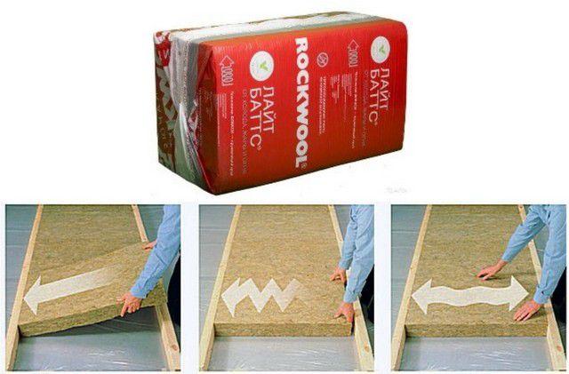 С плитами «ROCKWOOL ЛАЙТ БАТТС» чрезвычайно удобно работать благодаря пружинящему краю «флекси»