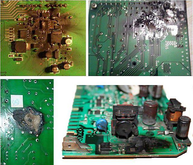 Возможные последствия перепадов сетевого напряжения – выгоревшие платы блоков электронного управления котлами