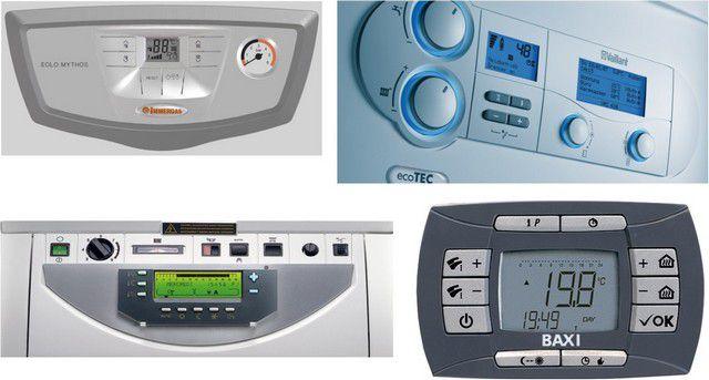 Панели управления современных газовых котлов – насыщенность функциональными опциями, системами контроля и обеспечения безопасности