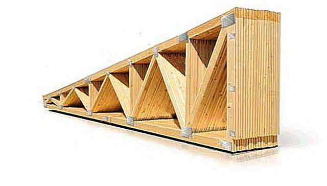 «Пачка» готовых стропильных ферм для односкатной крыши – идеально подогнаны по размерам