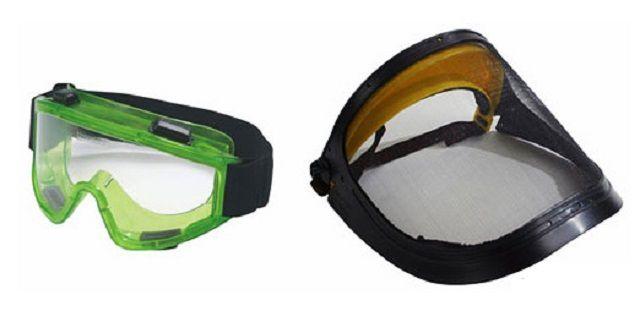 Лучше не ограничиваться очками, а воспользоваться маской, чтобы защитить все лицо