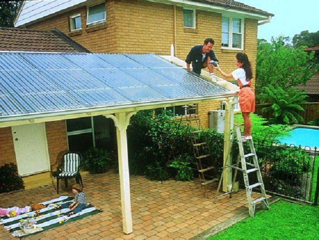 Она из типовых сфер применения – перекрытие легких пристроек к дому и создание зон для комфортного отдыха