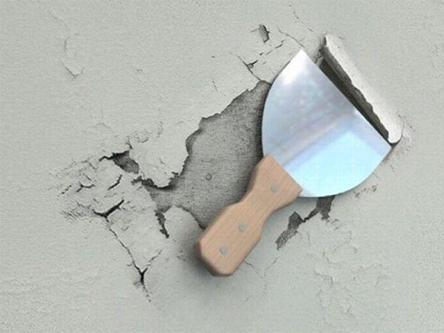 Старая побелка на стенах также подлежит удалению