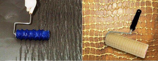 Очень оригинальные рельефы под кору дерева и крокодиловую кожу