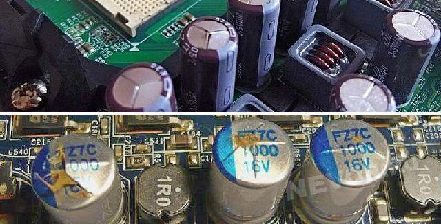 С теми электролитическими конденсаторами, которые не соблюдали полярность может случиться и такое
