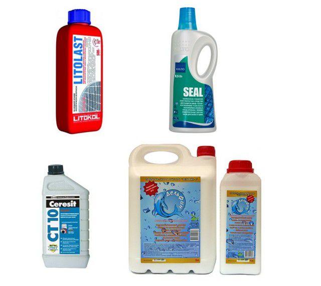 Пропитки для упрочнения швов, придания их повышенной гидрофобности и антисептических качеств