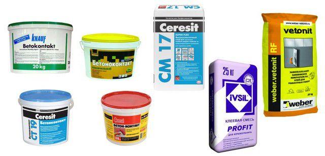 Рекомендуемые грунтовки и клеевые смеси для укладки нового керамического покрытия на старое