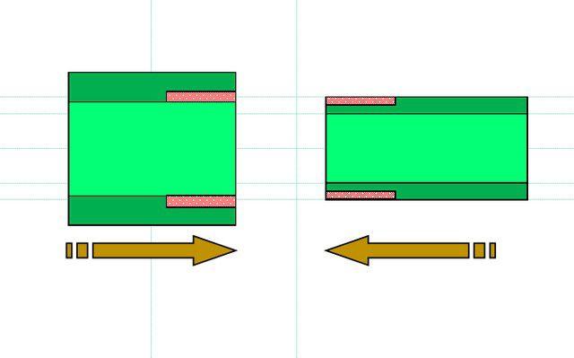 Принцип муфтовой сварки ПП-труб, схема №3