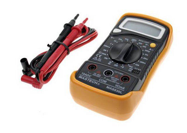 Для контроля коммутируемой электрической цепи потребуется мультиметр