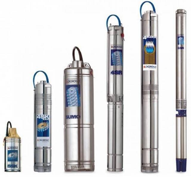 Погружные скважинные насосы могут значительно различаться диаметром