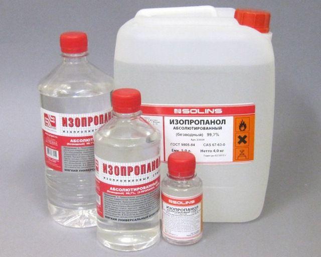 Изопропиловый спирт – отлично подойдет для обезжиривания свариваемых участков