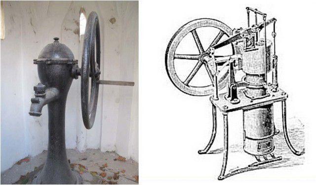 Раритетные модели насосов с колесом вместо привычного рычага-коромысла