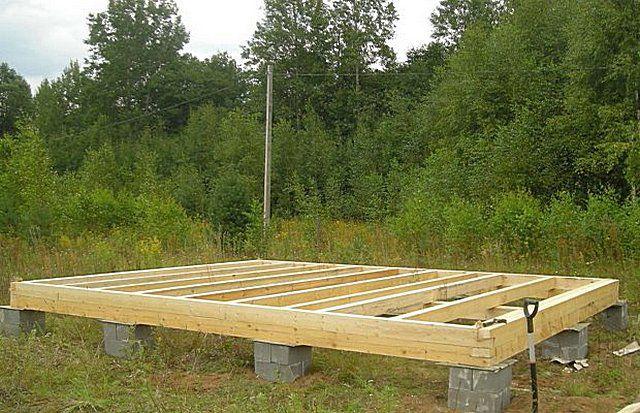 При строительстве небольших домов или хозяйственных сооружений часто бывает достаточно столбчатого фундамента