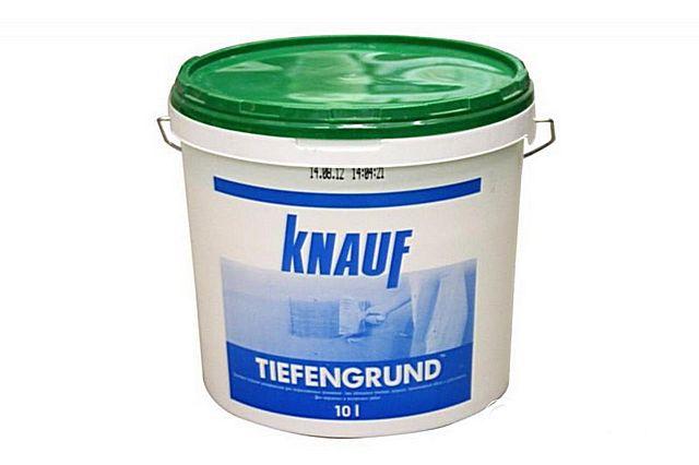 Одна из наиболее экономичных грунтовок – «Knauf Tiefengrund»