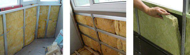 Варианты утепления стенки балкона минеральной ватой