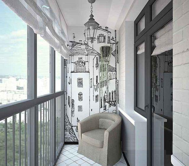 Для стиля «лофт» оптимальным решением станет панорамное остекление балкона