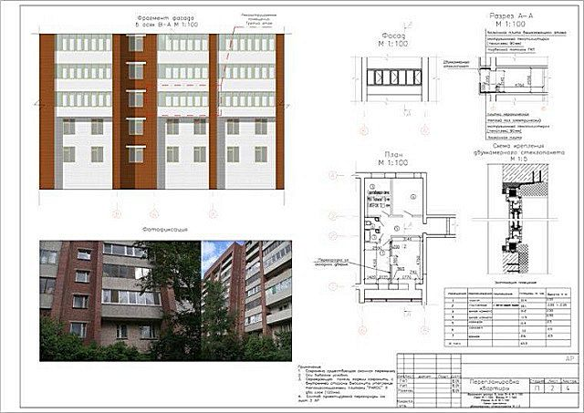 Проект остекления балкона, который еще предстоит завизировать в нескольких организациях.