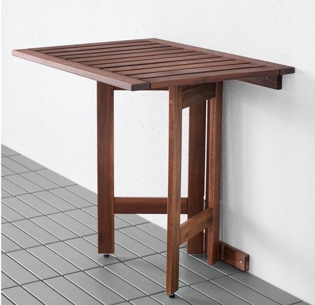 Еще один вариант стола с откидной столешницей и раздвижными ножками