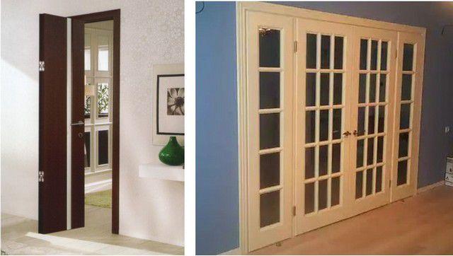 Единого подхода к столь разным дверям (и аналогично — к окнам), понятно, быть не может