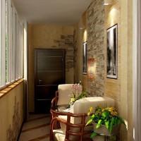 Варианты отделки балкона внутри
