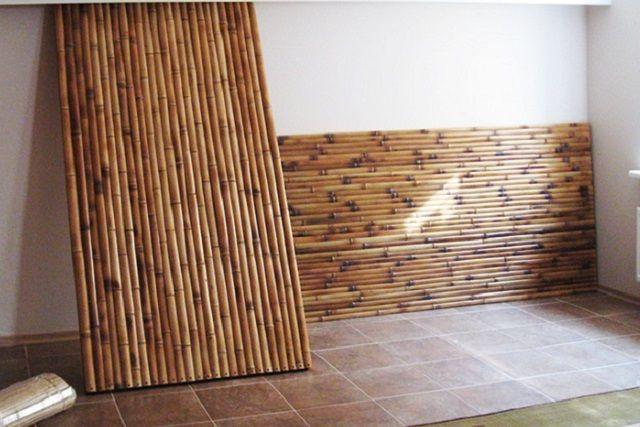 Еще один вариант бамбуковой отделки – это готовые панели