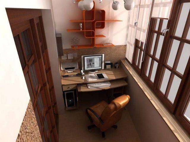 Из балкона получился отличный кабинет для уединенной плодотворной работы