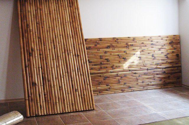 Бамбуковые панели позволяют быстро облицовывать большие площади стен