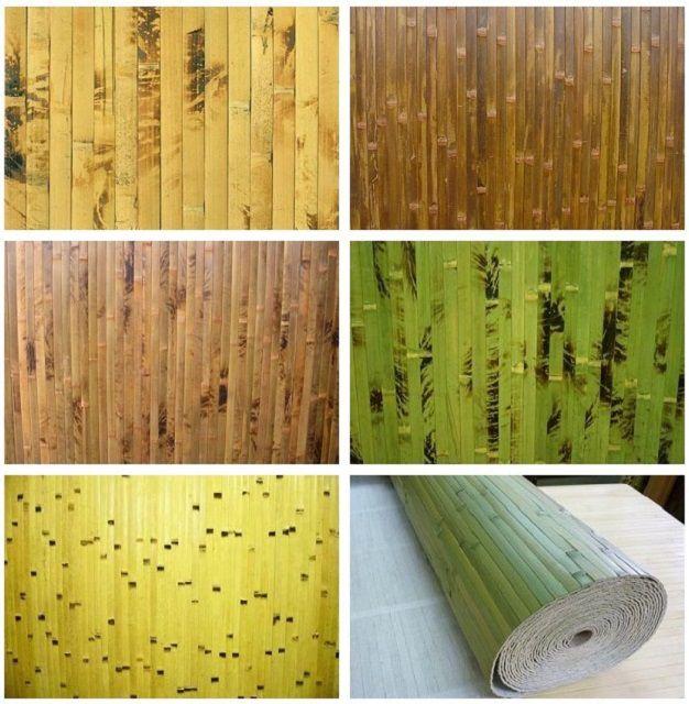 Разнообразие вариантов оформления бамбуковых обоев