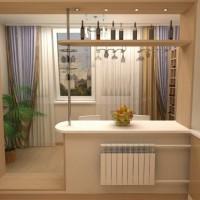 Кухня с балконом объединение дизайн