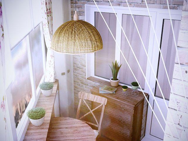 Для воссоздания «прованского» стиля при отделке балкона необходимо придерживаться определенных правил