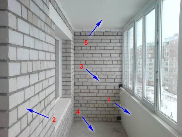 Различные поверхности лоджии требуют и дифференцированного подхода к их утеплению