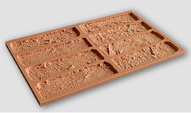 Силиконовые формы для отливки плиток «под кирпич»