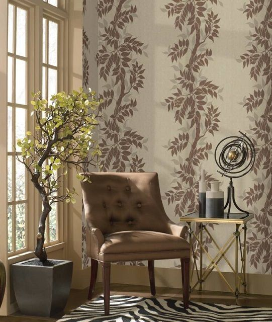 Мягкие, как будто «просвечивающиеся» сквозь стену тона придают особое спокойствие атмосфере вкомнате или кабинете
