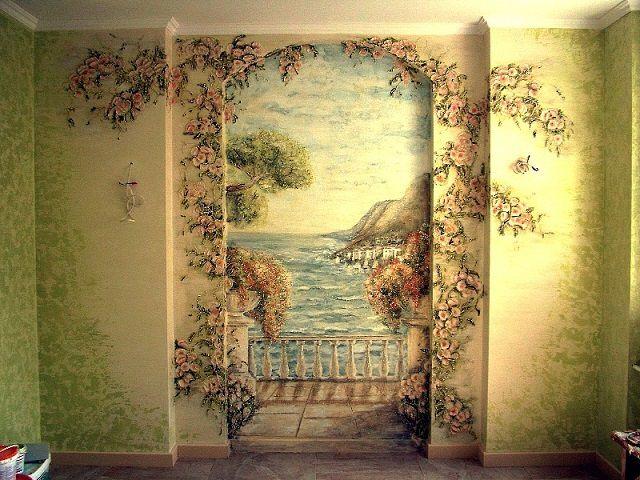 Глухая стена превратилась в «балкон с видом на море»