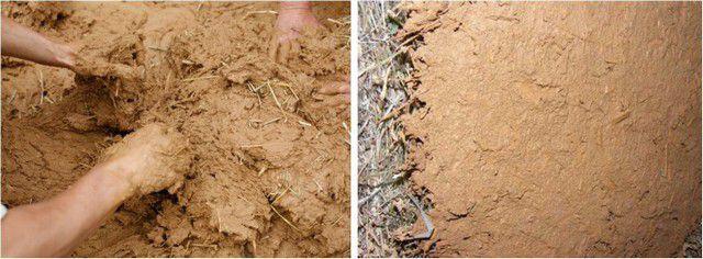Смесь глины с соломой или опилками – широко по сей день применяющийся способ утепления стен.