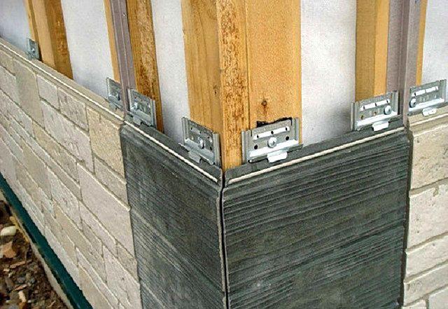 Крепление фиброцементных панелей к деревянной обрешетке кляймерами