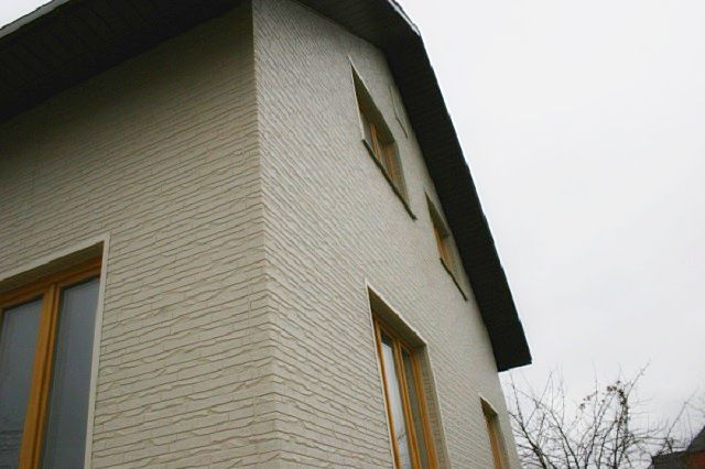 Фасад, отделанный фиброцементными панелями «LTM»