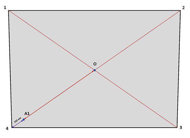 Построение диагоналей