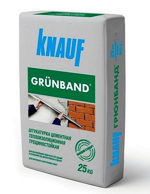 Упаковка теплой штукатурки с пенополистирольным наполнением «Knauf Grűnband»