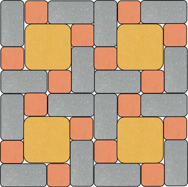 Один из бесконечного количества вариантов пример комбинации «Кирпичика», «Квадрата малого» и «Квадрата большого»