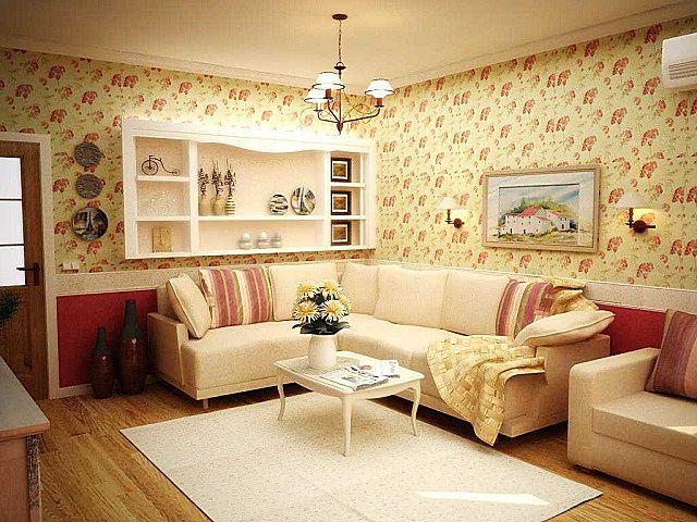 Один из самых комфортных для гостиной стилей интерьерного оформления – «кантри»