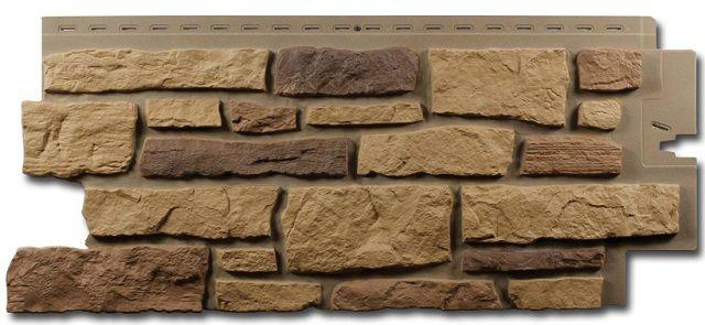 Цокольный полимерный сайдинг с весьма достоверной имитацией натуральной каменной кладки